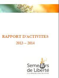Rapport d'activités 2013-2014